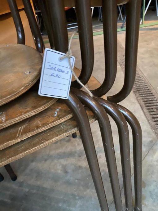 bruine marron vintage frame stoel chaise stolar ostalgie dutchdesign retro vintage retro_thegoodstufffactory_be