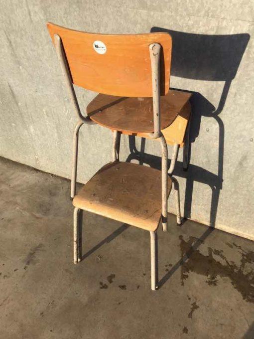 RAW set vintage retro stoel stolar INDUSTRIAL ANTIQUES CANTEENS école_thegoodstufffactory_be