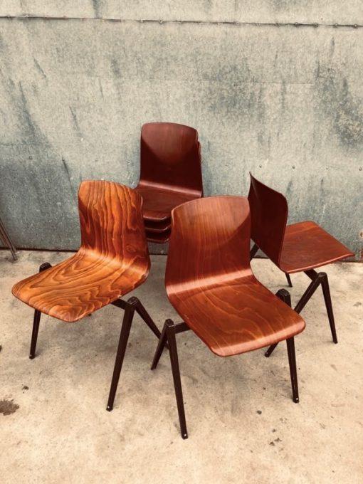 Galvanitas S22 dutch design baki noir vinage ostalgie retro masana'antu antiques kujera canteen kujera chaise falo_thegoodstufffactory_Be