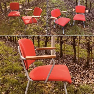 Gispen vintage ostalgie retro industrial antiques stoel canteen chair chaise lounge_thegoodstufffactory_Be