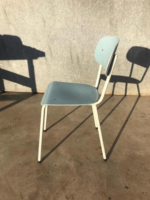 Plastic Design Stoelen.Set Of Two Baby Blue And White Chairs The Good Stuff Factory