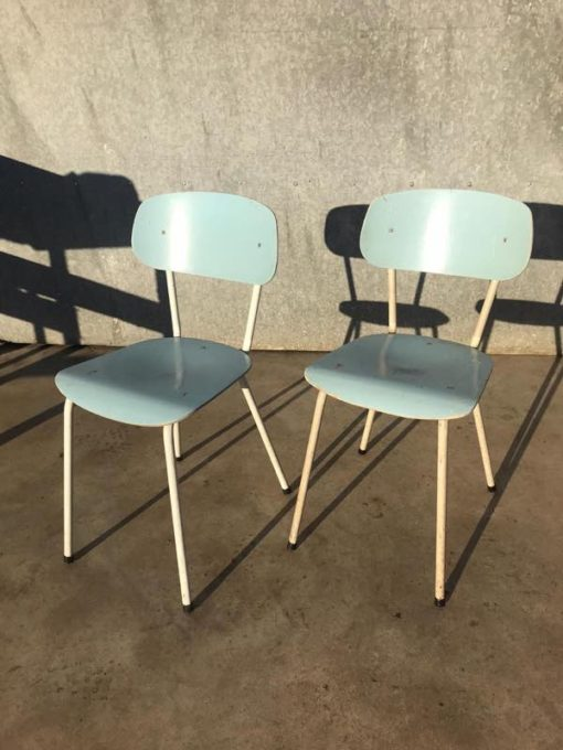 Witte Stoelen Design.Set Of Two Baby Blue And White Chairs The Good Stuff Factory