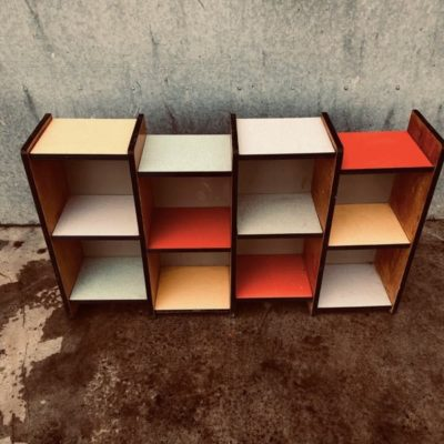 Sixties Retro vintage formica wall cabinet design cabinet _thegoodstufffactory_be