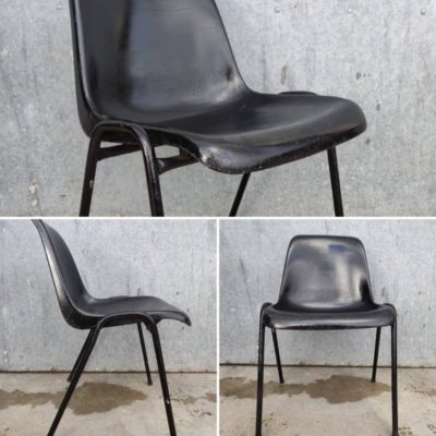 BLACK CHAIRS terrace catering event retro vintage industrial_thegoodstufffactory_Be