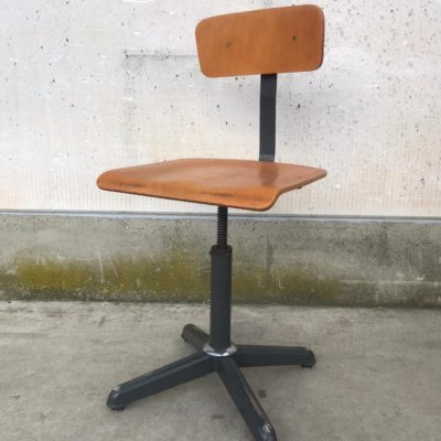yog'och dastgoh stullari chaise retro industrial