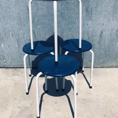 BLUE CANTEEN STOOL STOOL TABOURET vintere retro sixties seventies_thegoodstufffactory_be
