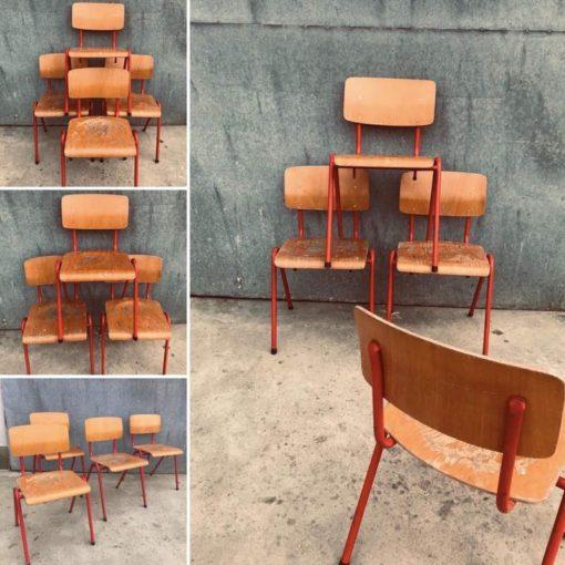 RED canteen chair chaise café horeca