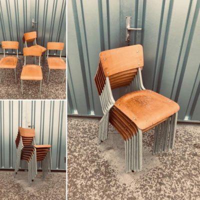 stapelstoelen canteen chair chaise café horeca resto kantine bar barista bistro koffiebar retro vintage ostalgie industrial antiques_thegoodstufffactory_be