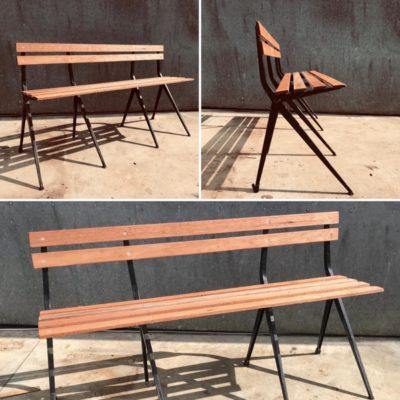 marko spinstoel 201 bench meranti outdoor furniture sixties retro modern antiques ostalgie stolar retro_thegoodstufffactory_be