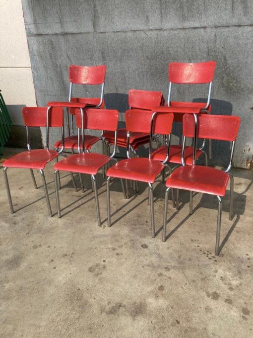 MEUROP RED vintage ostalgie industrial antiques sixties seventies chair chaise stuhl stolar_thegoodstufffactory_Be (1)