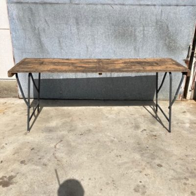 VOUWTAFEL KLAPTAFEL FOLDABEL TABLE PICKNICK INDUSTRIAL VINTAGE RETRO ANTIQUES OSTALGIE_THEGOODSTUFFFACTOR_be