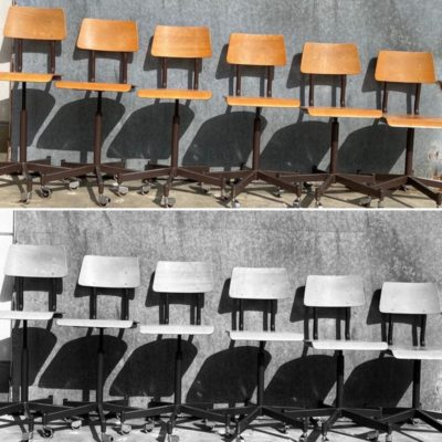 elbe beglsiche stoel kruk tabouret canteen stool bar resto ostalgie stolar industrial antiques antik retro seventies_thegoodstufffactory_be