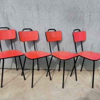 formica red rouge rood CHAIR CHAISE INDUSTRIAL VINTAGE RETRO ANTIQUES OSTALGIE_THEGOODSTUFFFACTOR_be