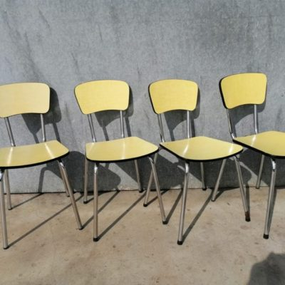 formica yellow jaune geel CHAIR CHAISE INDUSTRIAL VINTAGE RETRO ANTIQUES OSTALGIE_THEGOODSTUFFFACTOR_be