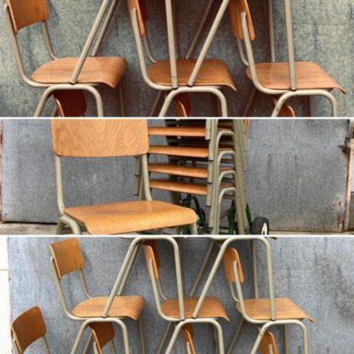 semal nivelles TLHOKOMELISO EA BELGIAN ostalgie retro cafechair canteen stacable retro vintage_thegoodstufffactory